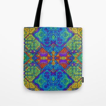 Festive Mosaic Tote Bag by Lyle Hatch