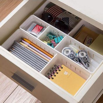 Adjustable New Drawer Organizer Kitchen Board Free Divider Makeup Tableware Storage Box Creative Design