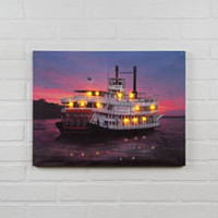 LIGHTED RIVERBOAT CANVAS