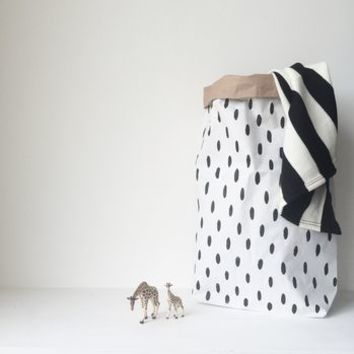 Hand Finished Spotted Paper Storage Sack