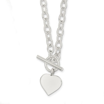 Sterling Silver Heart Necklace QG1436