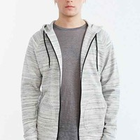 BDG Streaky Zip-UP Hooded Sweatshirt- Grey