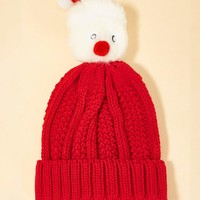 Christmas Pom-pom Decorated Beanie Hat