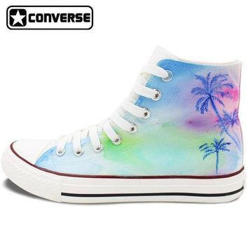 DCCK1IN palm trees painted converse