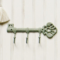 Cast Iron Key Hook, Choose Your Color, Wall Decor, Iron Key, Wall Key Holder, Key Rack, Skeleton Key Holder, Decorative Key Hook, Key Hook