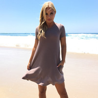 My All In All Shift Dress In Mocha
