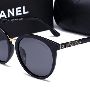 Chanel women's trendy fashion brand beautiful sunglasses F-HWYMSH-YJ