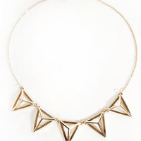 All the Acute-trements Gold Triangle Necklace