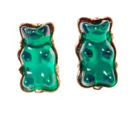Green Gummy Bear Studs Earrings