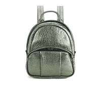 Alexander Wang Dumbo Backpack - Carbon Metallic Pebble Lamb/Rhodium