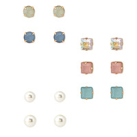 FOREVER 21 Muted Pastel Stud Set Cream/Multi One