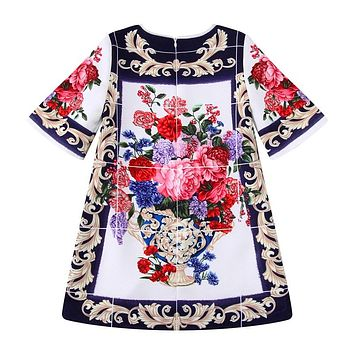 Girl Dress with Beading Kids Winter Dresses for Girls Clothes Flower Princess Costumes Children