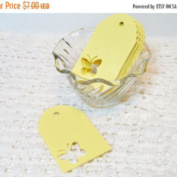 Sale Butterfly Tags 50 Wedding Wish Tree Tags Gift Favor