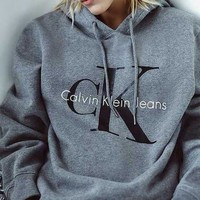 Calvin klein Long Sleeve Pullover Sweatshirt Top Sweater Hoodie