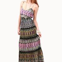 Twelfth Street by Cynthia Vincent Tiered Lace Maxi Dress in Kaleidoscope for sale online from Carolina Boutique in Mill Valley