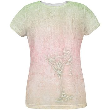 Summer Cocktail Martini All Over Womens T Shirt