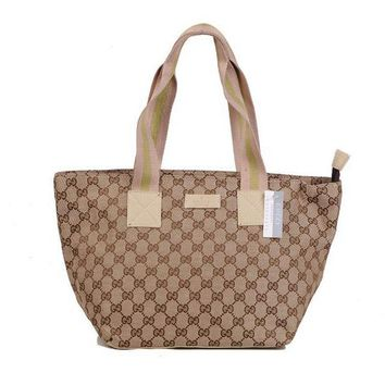 GUCCI Women Leather Fashion Shopping Bag Shoulder Bag Tote Handbag
