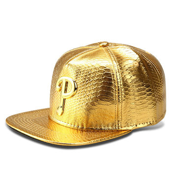 Korean Baseball Cap Gold Alphabet Hip-hop Hats [6540876227]
