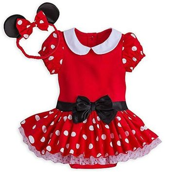 Authentic Disney Store Minnie Mouse Organic Costume Bodysuit Baby Girl 18-24M
