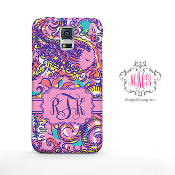Summer Sea and Bea Seen Lilly Pulitzer Monogram Samsung Galaxy S6 Case, Galaxy Note 4 Case