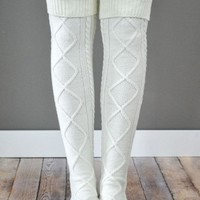 The San Fran Boot Socks - Ivory