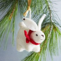 Felt Animal Ornament - Rabbit