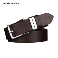 [CATTLEHEADED] 2016 new men's men's business casual leather belt with high quality pin buckle belt fashion wild belt