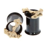 Morbid Metals Gold Anchor Eyelet Plug 2 Pack