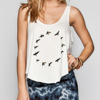 Rvca Halo Womens Tank Off-White  In Sizes