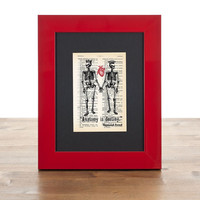 Skeletons in love anatomy is destiny Freud quote tiny dictionary print - Anatomy collection- 4x6 inches  - only by NATURA PICTA