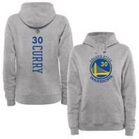 Women's Golden State Warriors Stephen Curry Ash Backer Pullover Hoodie