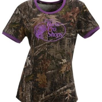 Bass Pro Shops Camo Ringer T-Shirt for Ladies | Bass Pro Shops