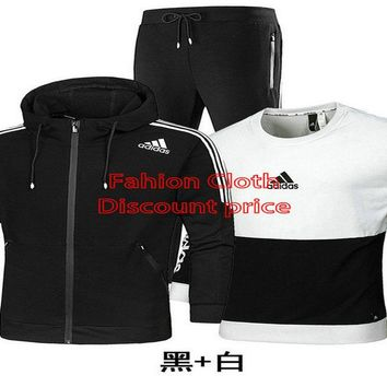 Adidas Three-Piece Suit 2018 Spring Fashion Trend Clothes AK L-4XL AD529