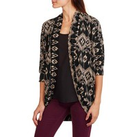 French Laundry Women's Super Soft Printed Knit Cocoon Cardi - Walmart.com