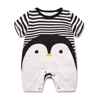 Baby Boys Penguin Stripes Jumpsuit