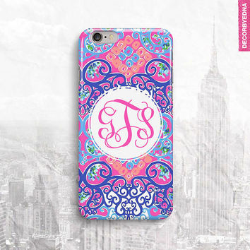 Lilly Pulitzer Behind The Gates Monogram iPhone 6 Case, iPhone 5 Cover, iPhone 4 Cover, iPad Mini Case