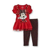 Disney Baby Minnie Mouse Infant & Toddler Girl's Sequin Top & Leggings