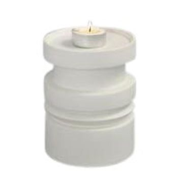 Awesome White Ceramic Pillar Candle Holder -Sagebrook Home