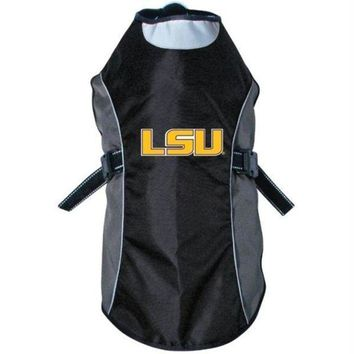 ONETOW LSU Tigers Water Resistant Reflective Pet Jacket
