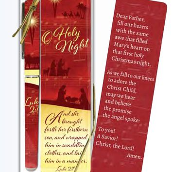 O Holy Night Holiday Christmas Bookmark and Pen Set