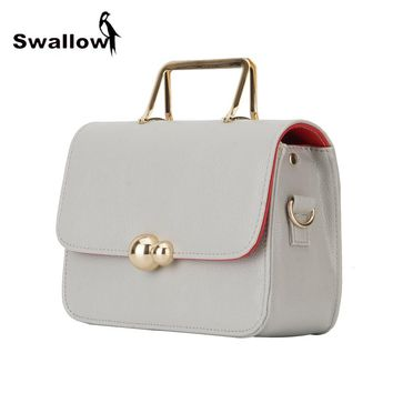 SWALLOW Hasp Crossbody Bags For Women With Chain Metal Handle Luxury Handbags Women Bags Designer Small Chain Shoulder Bags