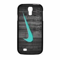Nike Mint Just Do It Wooden Samsung Galaxy S4 Case