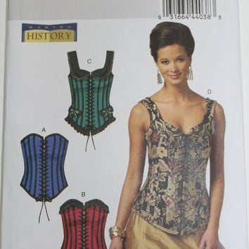 Butterick Womens Corset Pattern costume sizes 6 8 10 12 14 New Uncut