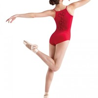 JFM Diamond Patchwork Trio Back Cami Leotard / Bloch