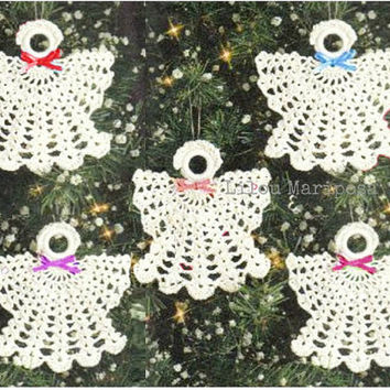 Crochet Christmas ANGEL Ornament Pattern Crochet Ornament Pattern Crochet ANGEL Pattern Crochet Baptism Favor Pattern