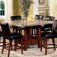 Steve Silver Montibello Marble Top Counter Height Storage Dining Table | www.hayneedle.com