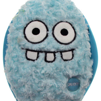 "Blue Rocket Head Pillow Color LED Light Up Flash Plush 10"" Microbeads Home Decor"