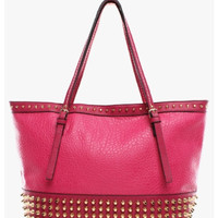 Studded Pink Tote