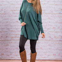 Cozy Times Top, Teal