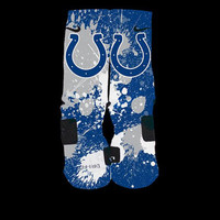 Colts Inspired Inspired Custom Nike Elite Socks